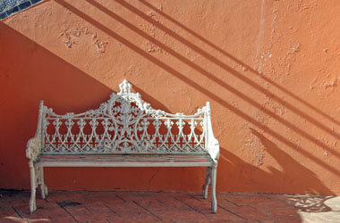 Mexican ornate bench